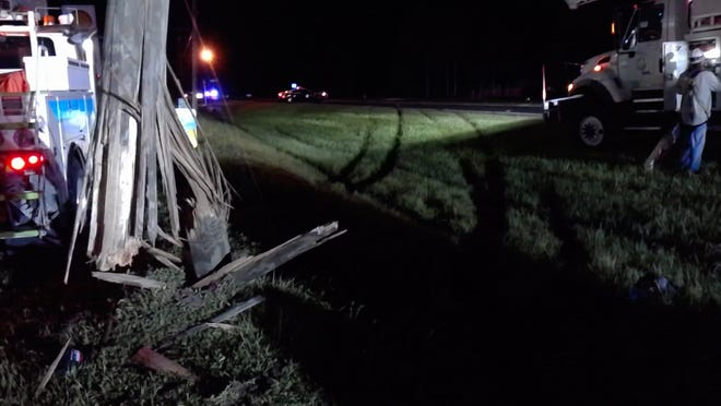 An 11-month-old child was in serious but stable condition in Tampa General Hospital after being ejected during a three-vehicle crash along State Road 29 in Hendry County on Saturday night.