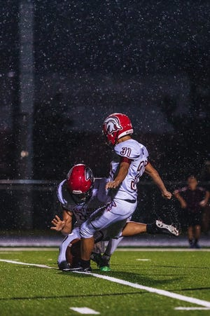 Evangelical Christian junior Trevor Magner has now suited up for the Sentinels in five varsity sports, adding kicking for the football team to his resume in 2018.