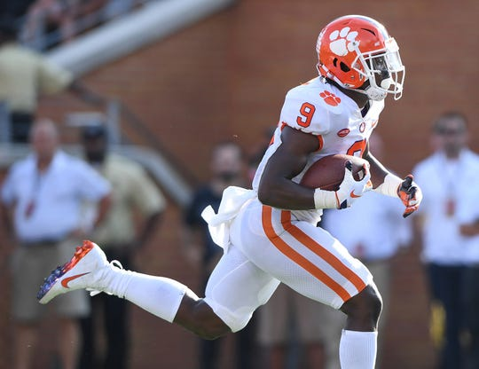 Star Clemson running back Travis Etienne will be tough to stop.