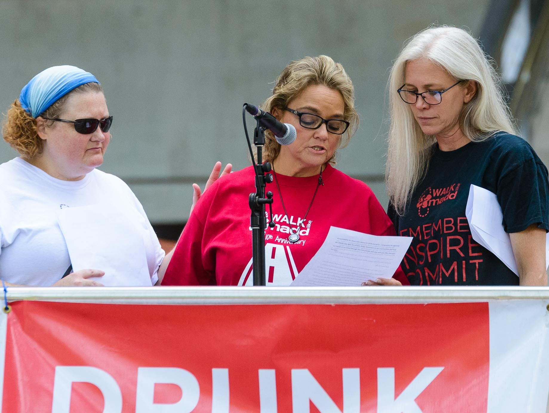 Rhonda Cockrell (rcenter) tells the story of how her son Jeremy was killed during the 2nd annual Walk Like MADD  Greenville Upstate fundraiser and 5K walk at Clemson's Internation Center for Automotive Research on Sunday, October 7, 2018.