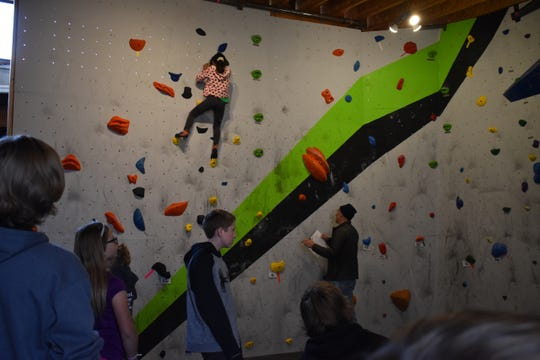 Climbers chose their routes and earned points based upon completion of that particular level.