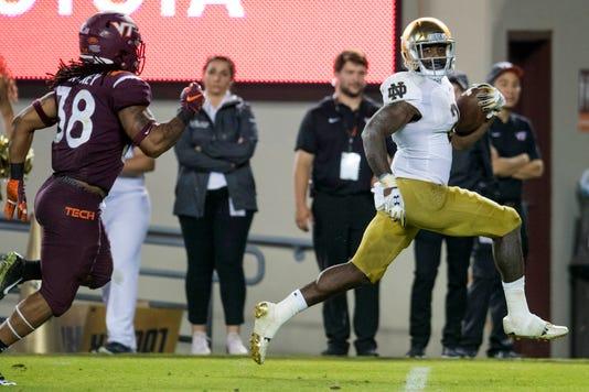 Ncaa Football Notre Dame At Virginia Tech