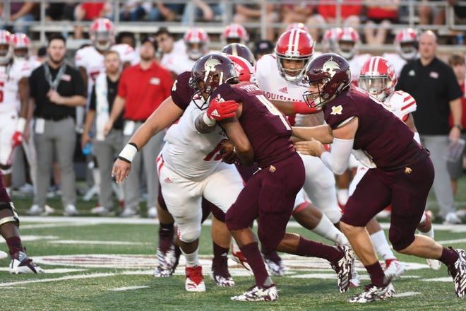 UL beat Texas State 42-27 Saturday night behind the play of a defense that shutout the Bobcats in the first half.