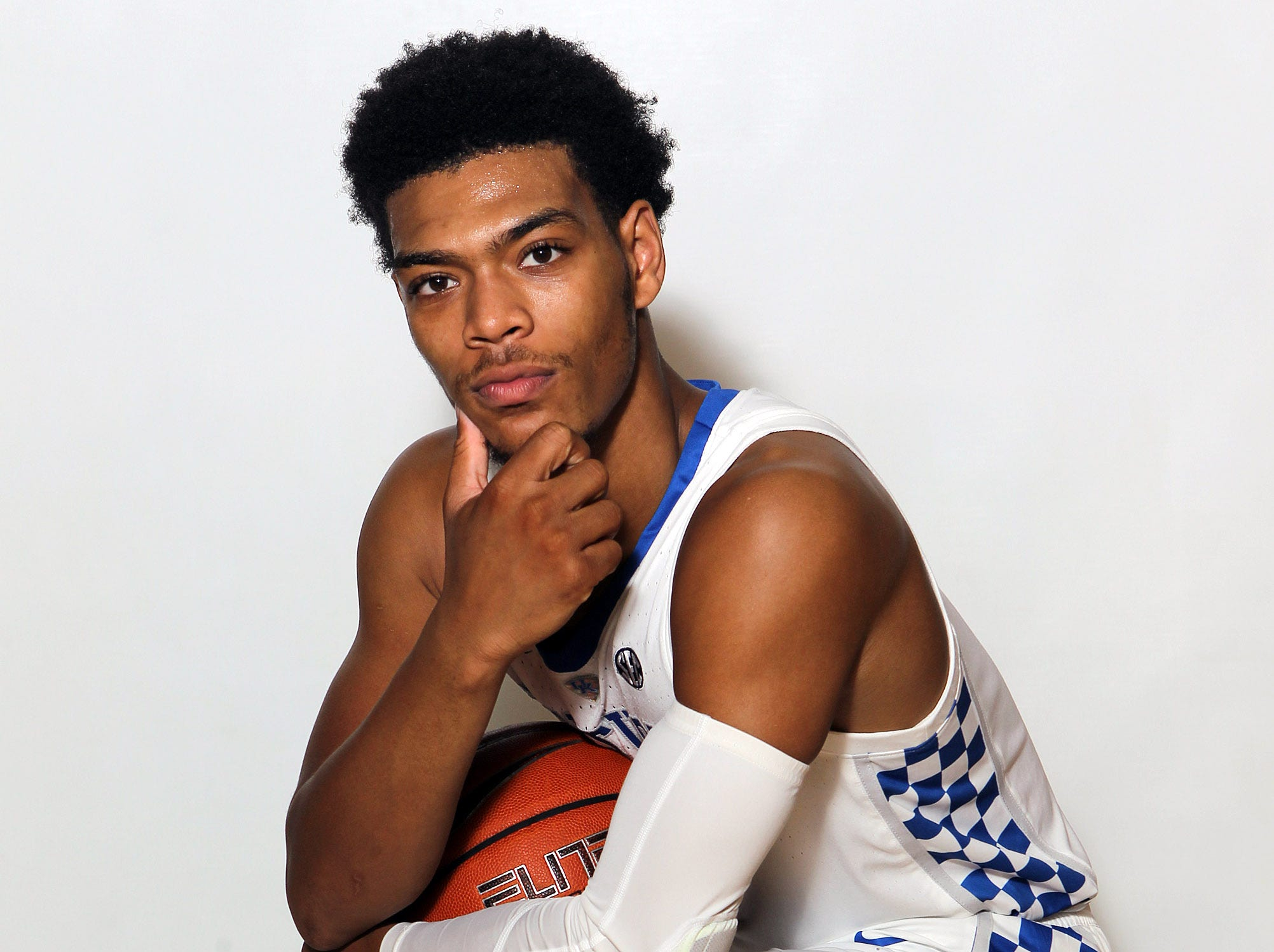 Kentucky's Quade Green (0) poses during the teams picture day in Memorial Coliseum on campus. Sep. 20, 2018