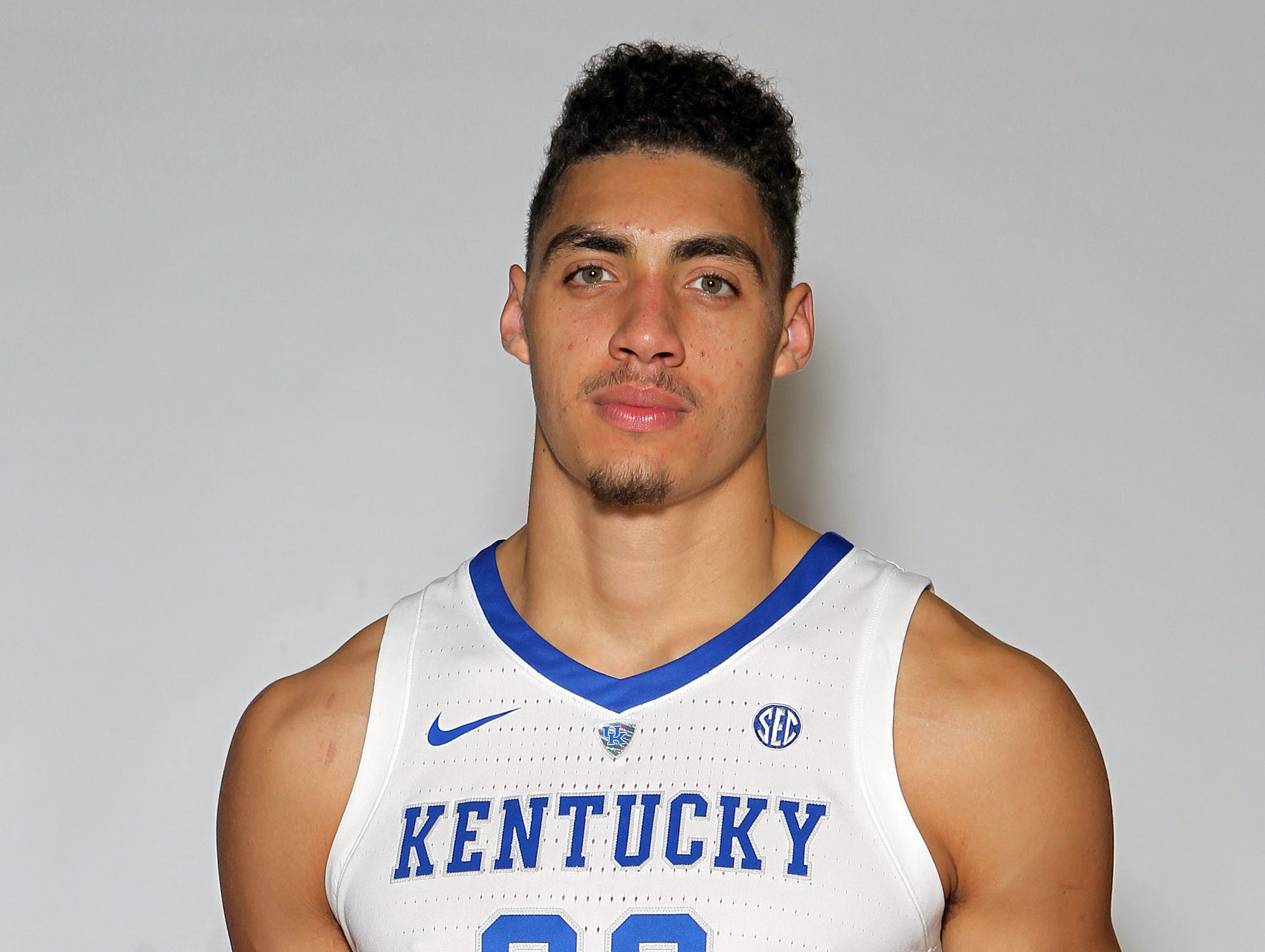 Kentucky's Reid Travis poses during the teams picture day in Memorial Coliseum on campus. Sep. 20, 2018