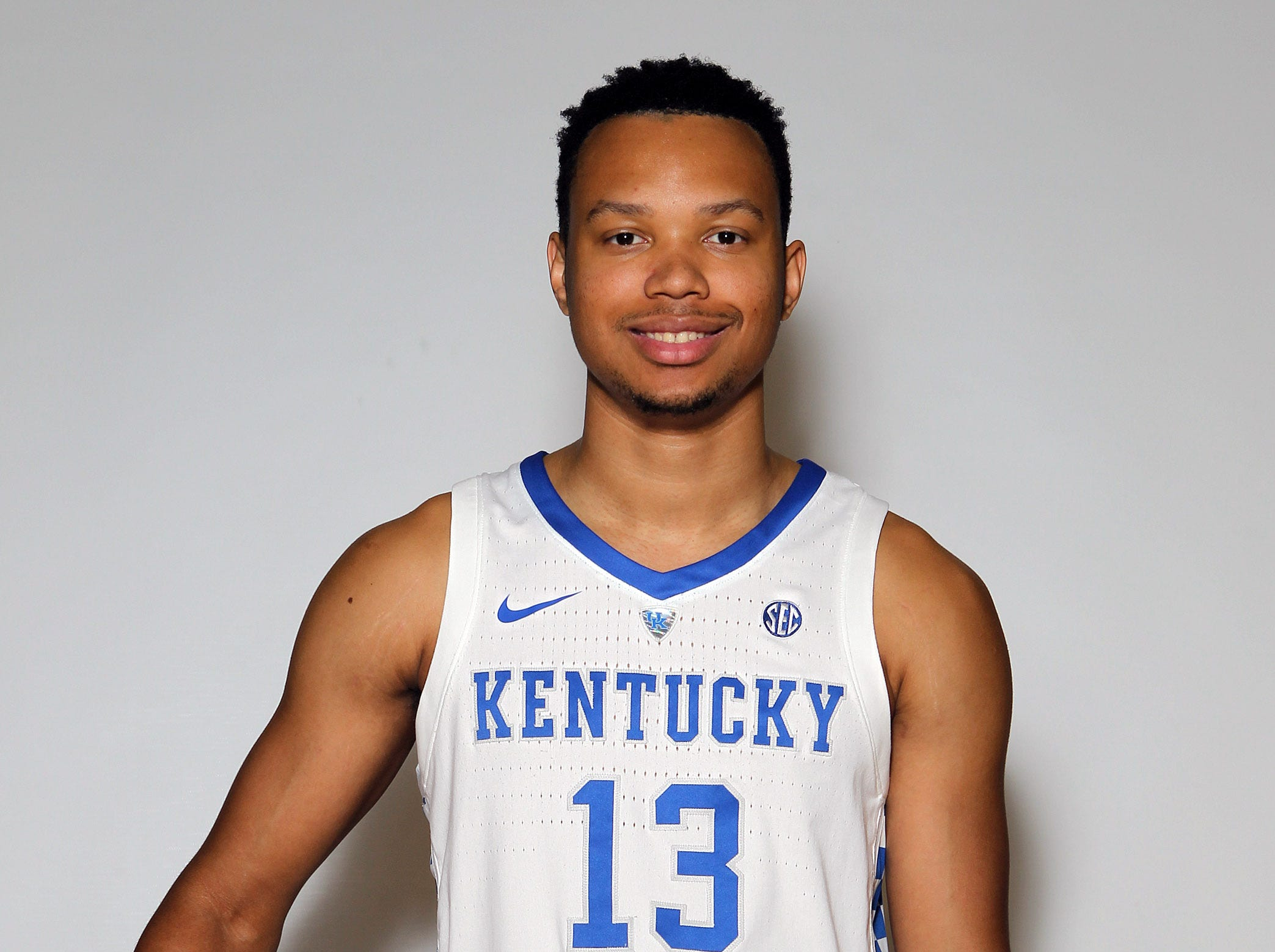Kentucky's Jemarl Baker poses during the teams picture day in Memorial Coliseum on campus. Sep. 20, 2018