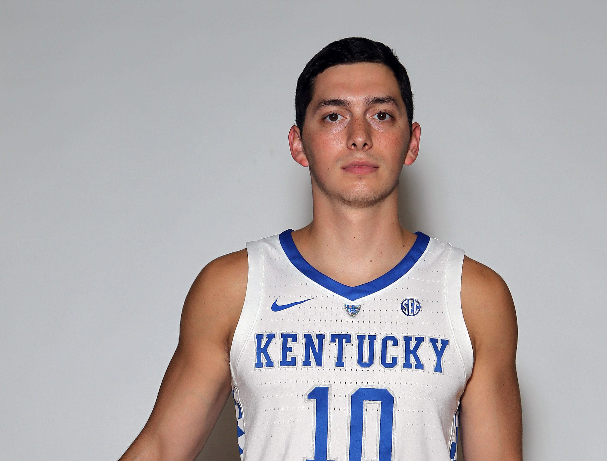 Kentucky's Jonny David poses during the teams picture day in Memorial Coliseum on campus. Sep. 20, 2018