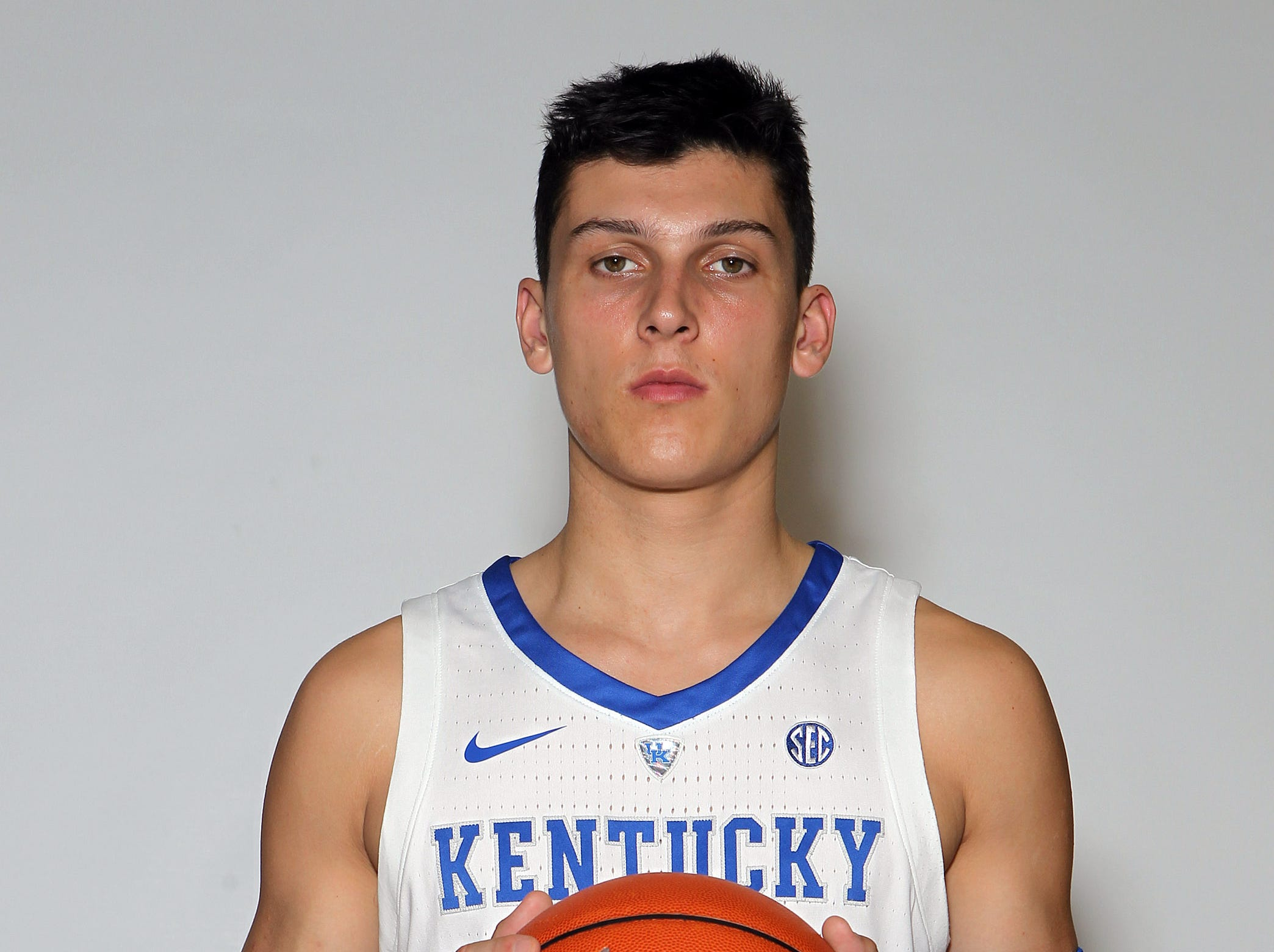 Kentucky's Tyler Herro poses during the teams picture day in Memorial Coliseum on campus. Sep. 20, 2018