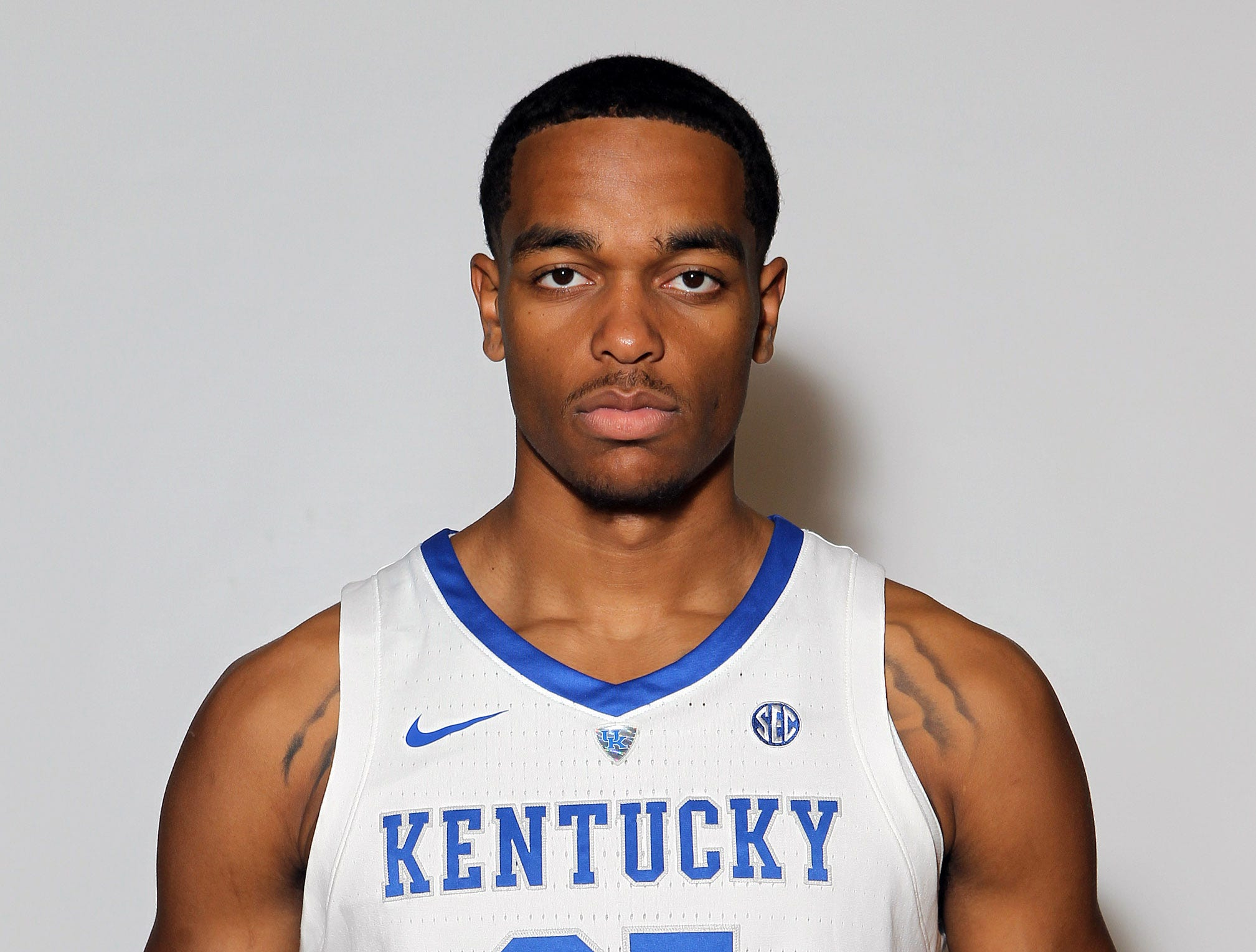 Kentucky's PJ Washington (25) poses during the teams picture day in Memorial Coliseum on campus. Sep. 20, 2018