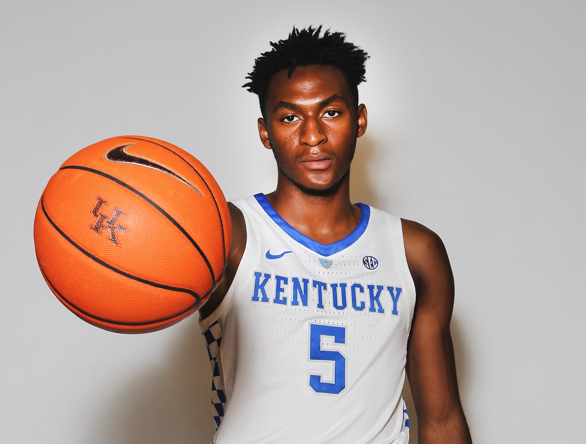 Kentucky's Immanuel Quickley poses during the teams picture day in Memorial Coliseum on campus. Sep. 20, 2018