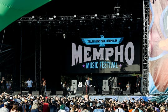 Rich the Kid performs on the First Tennessee stage during the second day of the 2018 Mempho Music Festival at Shelby Farms Park on Oct. 7, 2018.