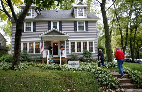 A home at 2000 Forrest St. was on the Wauwatosa Historical Society's Tour of Homes in 2018. The house is a classic symmetrical colonial built by John Theis in 1919.