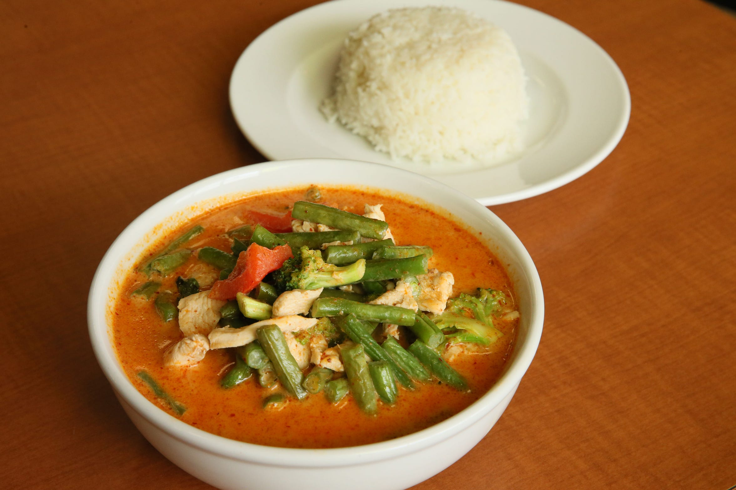 Panang curry with chicken is one of several curries at Kim's Thai Restaurant, 938 W. Layton Ave.