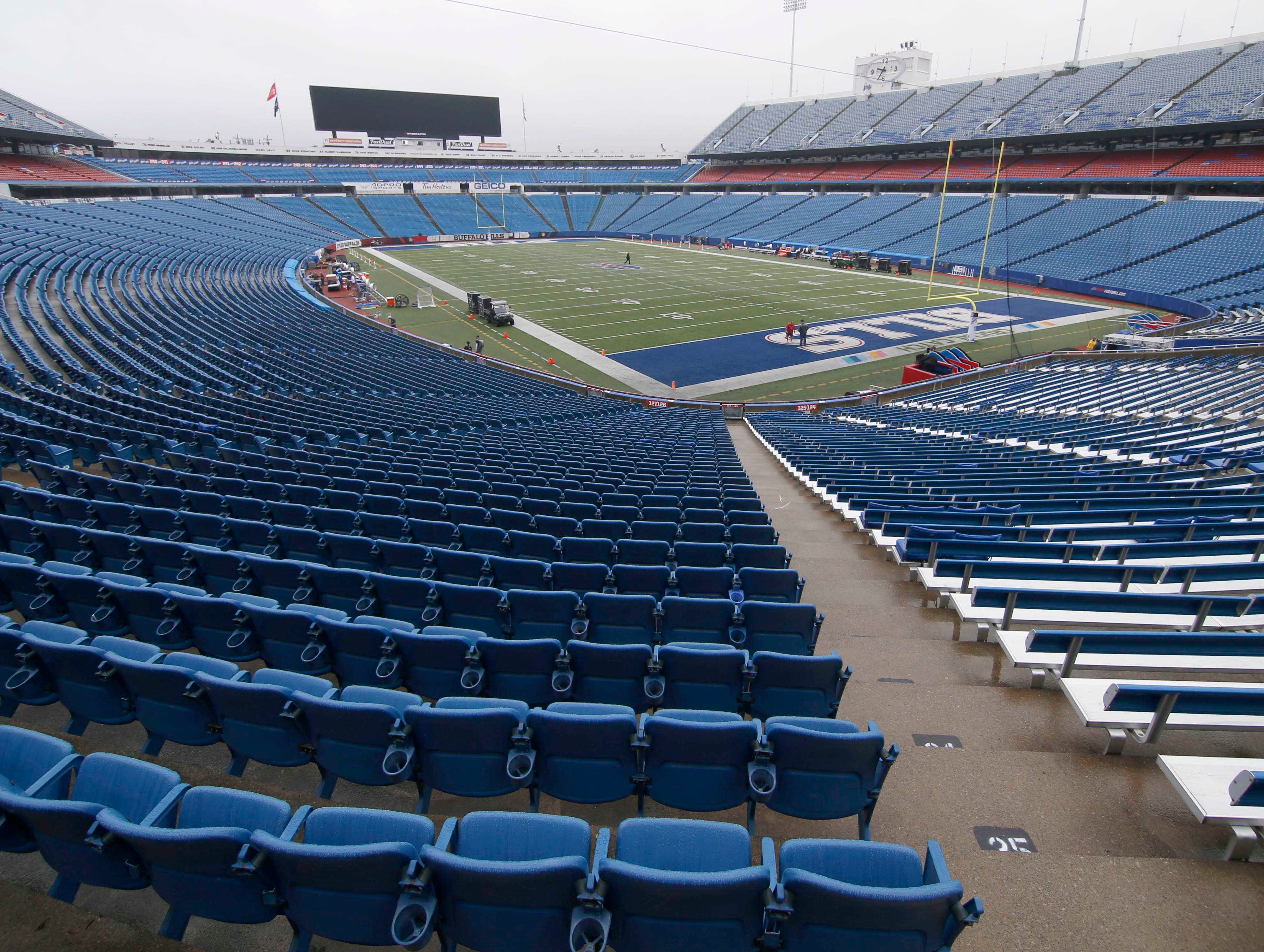 Oct 7, 2018; Orchard Park, NY, USA; A general of New Era Field before a game between the Buffalo Bills and the Tennessee Titans.