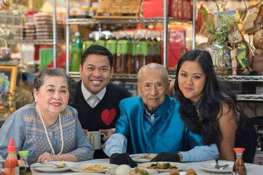From left, the late Patti Myint, son Arnold Myint, husband Win Myint and daughter Anna Myint.