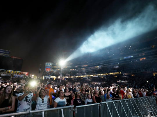 Fans fill Nissan Stadium to see Ed Sheeran perform Saturday October 6, 2018.