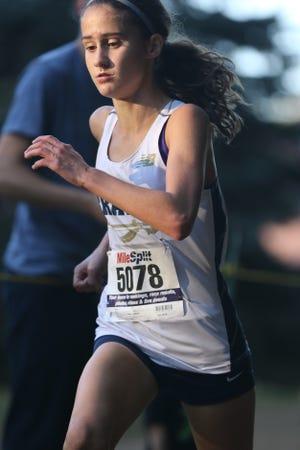 File: Corinne Barney runs in Mahwah.  Tuesday, October 10, 2017