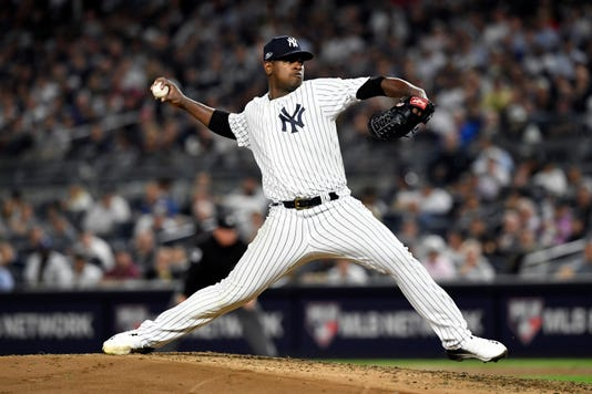 New York Yankees' Luis Severino