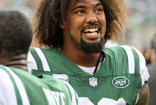 Leonard Williams and the Jets were all smiles at the end of their game against the Broncos. Sunday, October 7, 2018