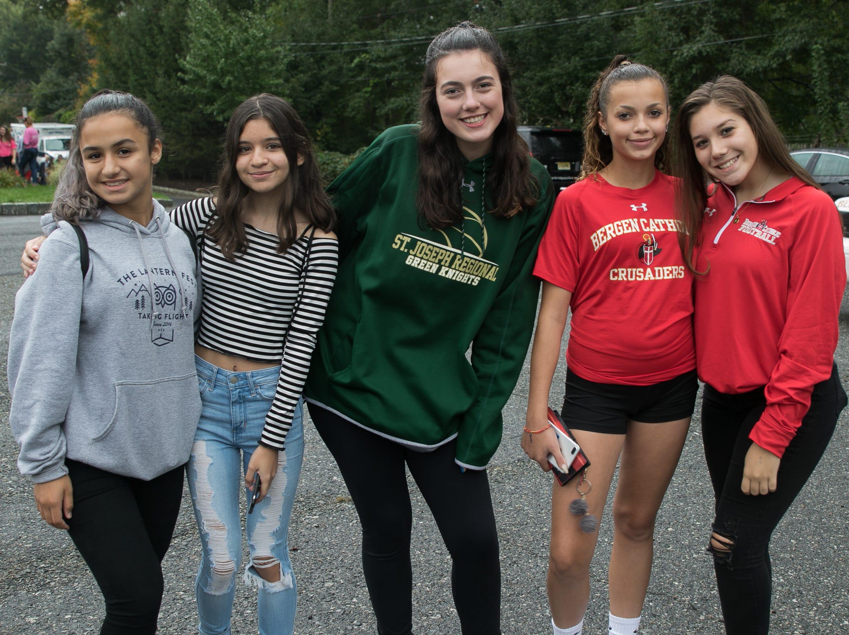 Fans at the St. Joseph's Regional High School verses Bergen Catholic Football game held at St. Joseph's. 10/06/2018