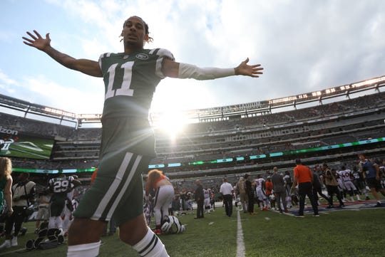 Robby Anderson had two touchdowns in the Jets victory over the Broncos. Sunday, October 7, 2018