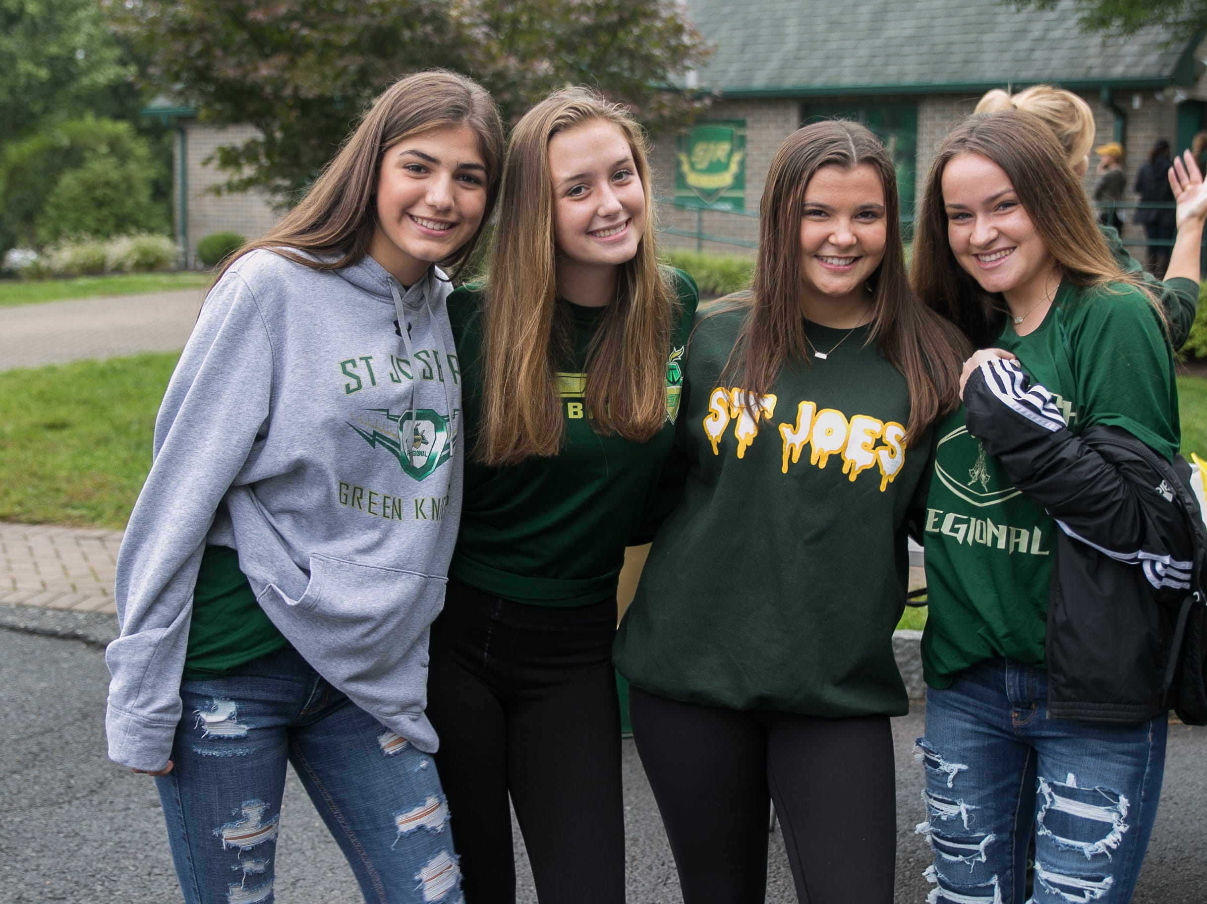 Fans at the St. Joseph's Regional High School verses Bergen Catholic Football game held at St. Joseph's. 10/06/2018