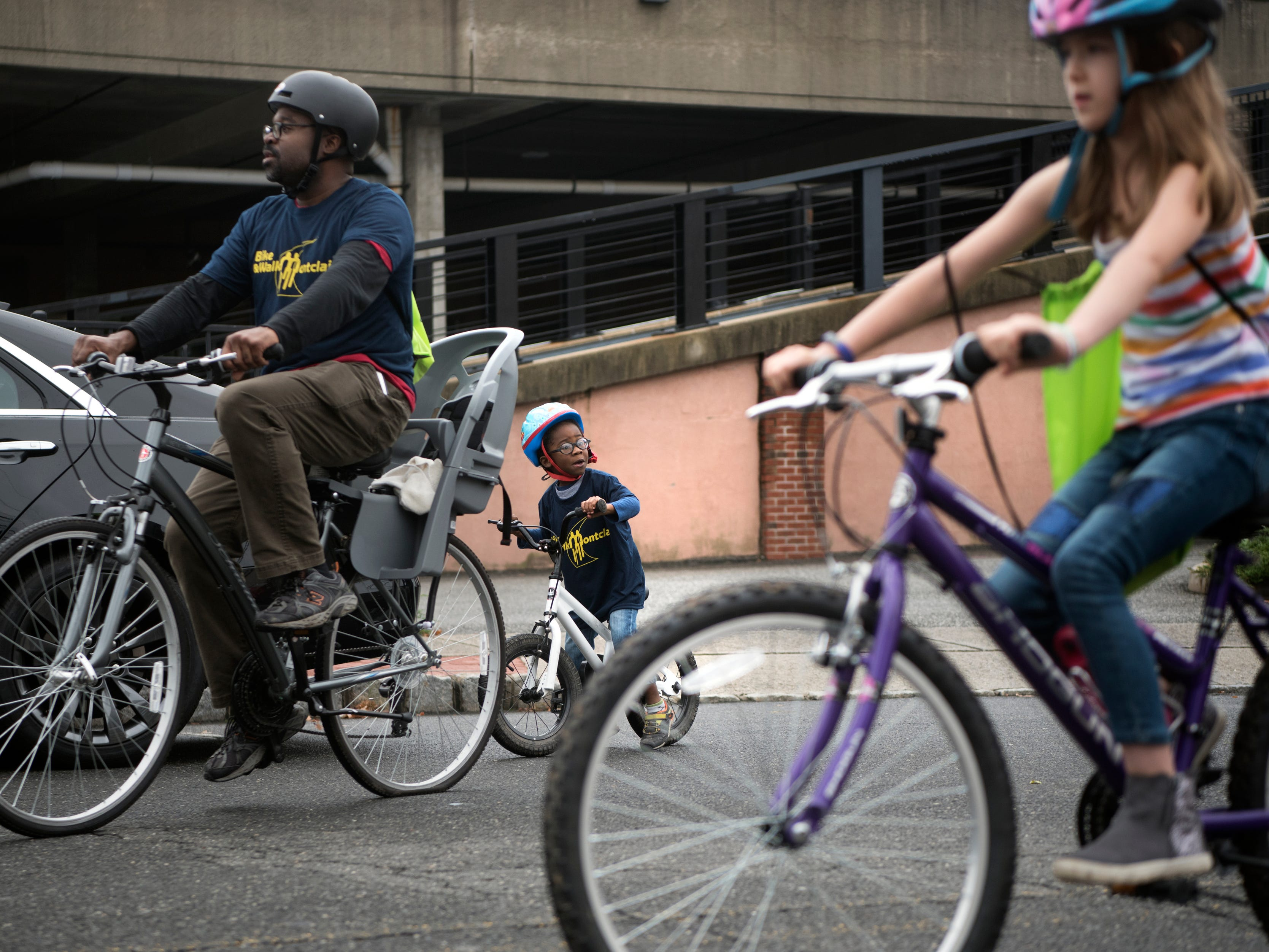 The Tour de Montclair a family-friendly bike ride with 6- and 12- mile options was held on Sunday, October 7, 2018. A young rider participates in the ride.