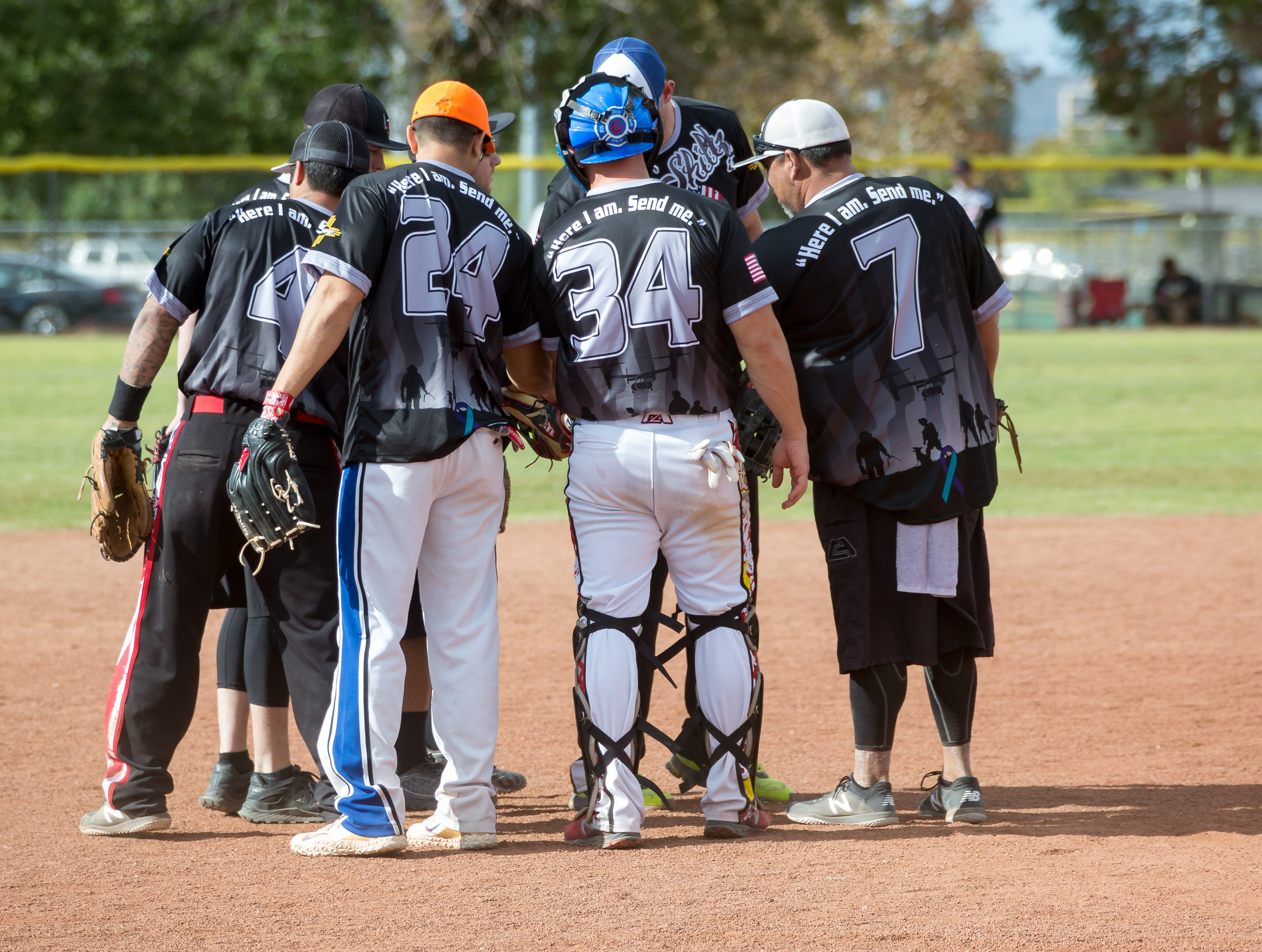 Teams gather for tournament play on Sunday, Oct. 7, 2018 during the 39th Whole Enchilada Invitational softball tournament at the Hadley complex.