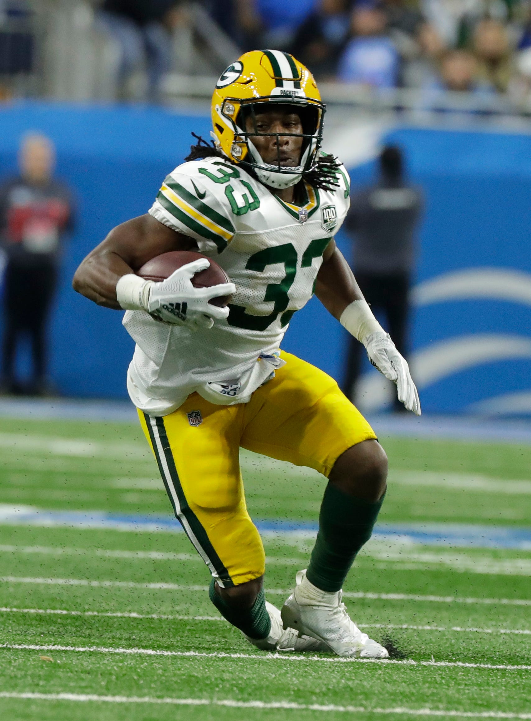 Packers coach Mike McCarthy: There's more to Aaron Jones' playing time than stats