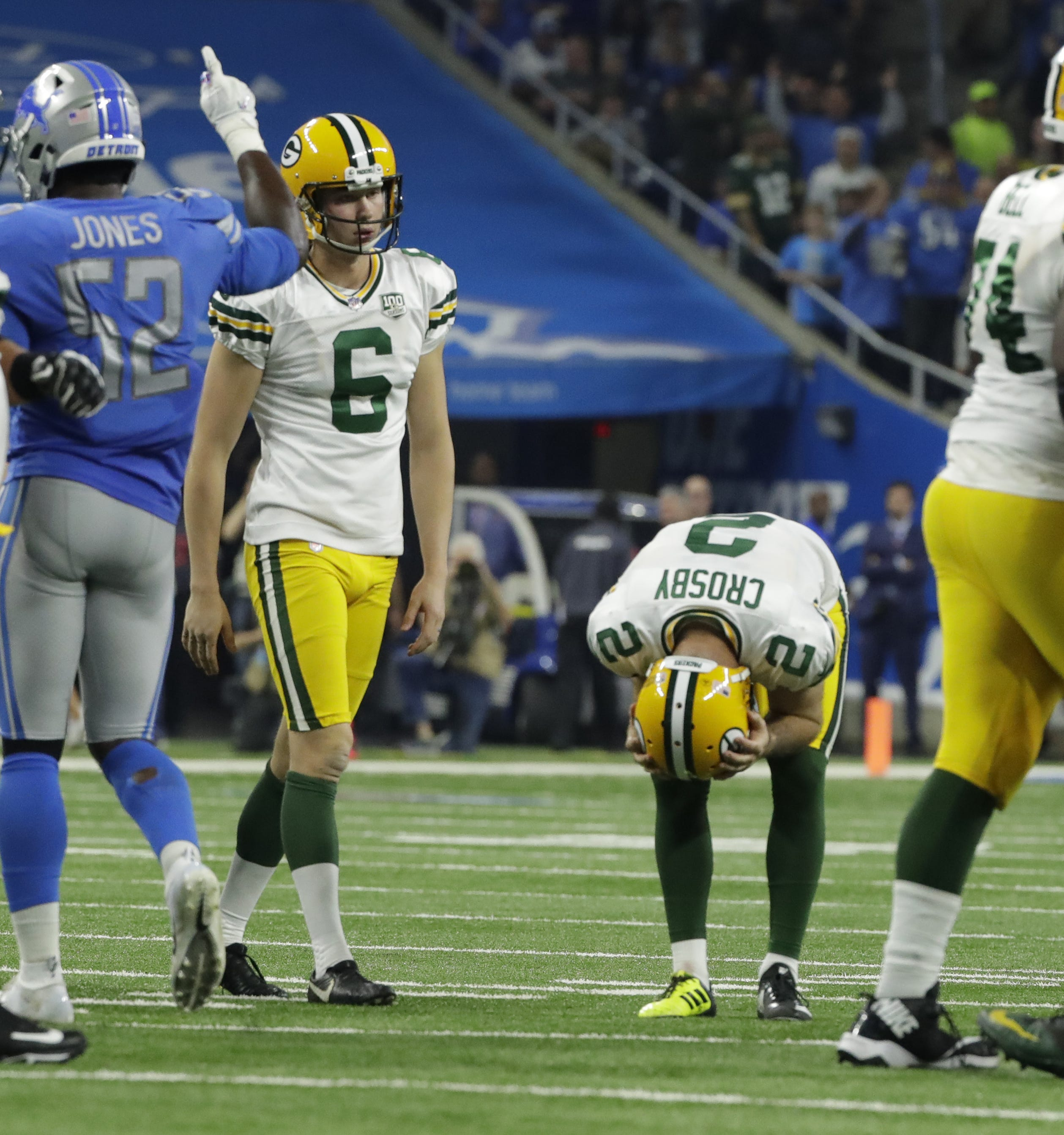 Packers kicker Mason Crosby's 'anomaly in life' leads to five misses in loss to Lions