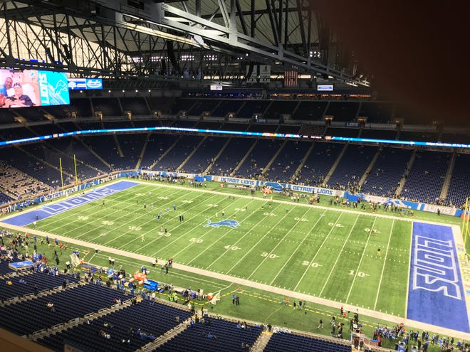 Ford Field before the Packers play the Lions.