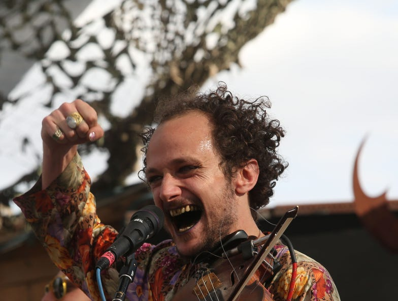 Whiskerman performs at the 13th annual Joshua Tree Music Festival on Saturday October 6, 2018. The music and arts festival last through the weekend.