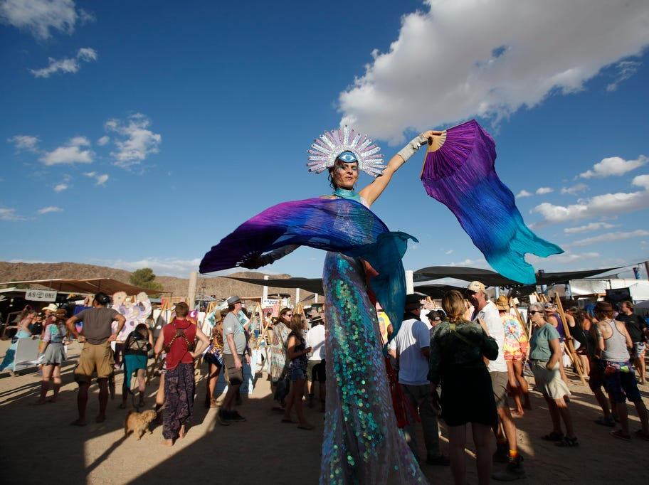 Scenes from the Joshua Tree Music Festival on Saturday October 6, 2018. The music and arts festival last through the weekend.