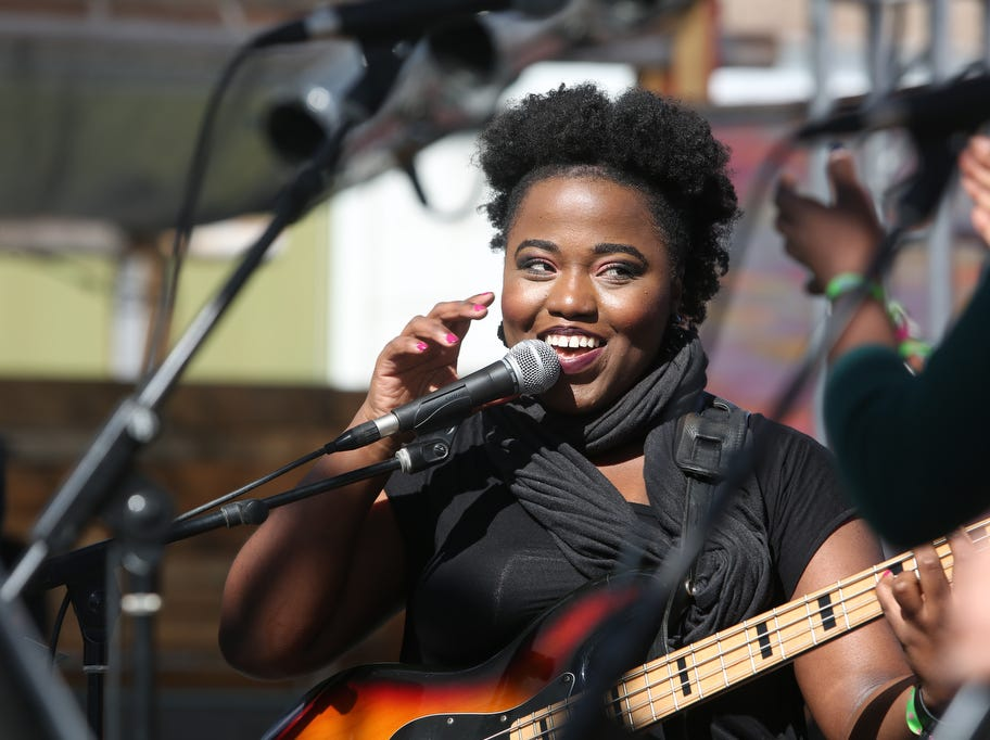 Selah Poitier performs at the Joshua Tree Music Festival on Saturday October 6, 2018. The music and arts festival last through the weekend.