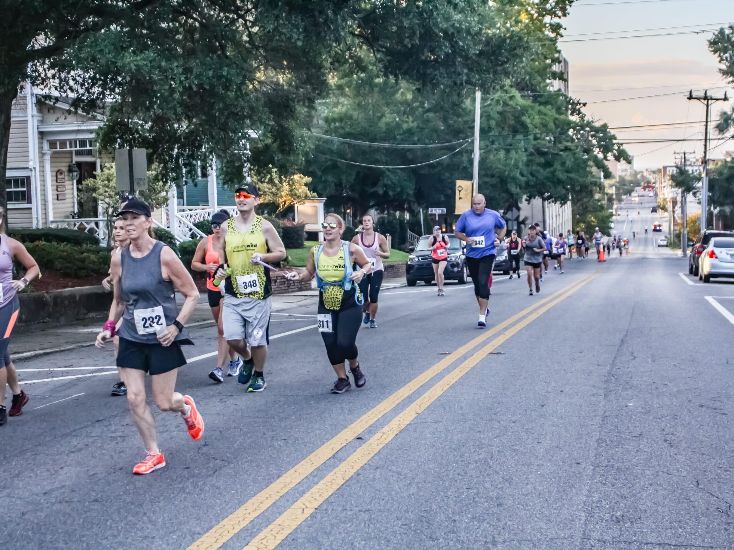 Runners test their mettle at the Pensacola Half Marathon on Oct. 7, 2018.
