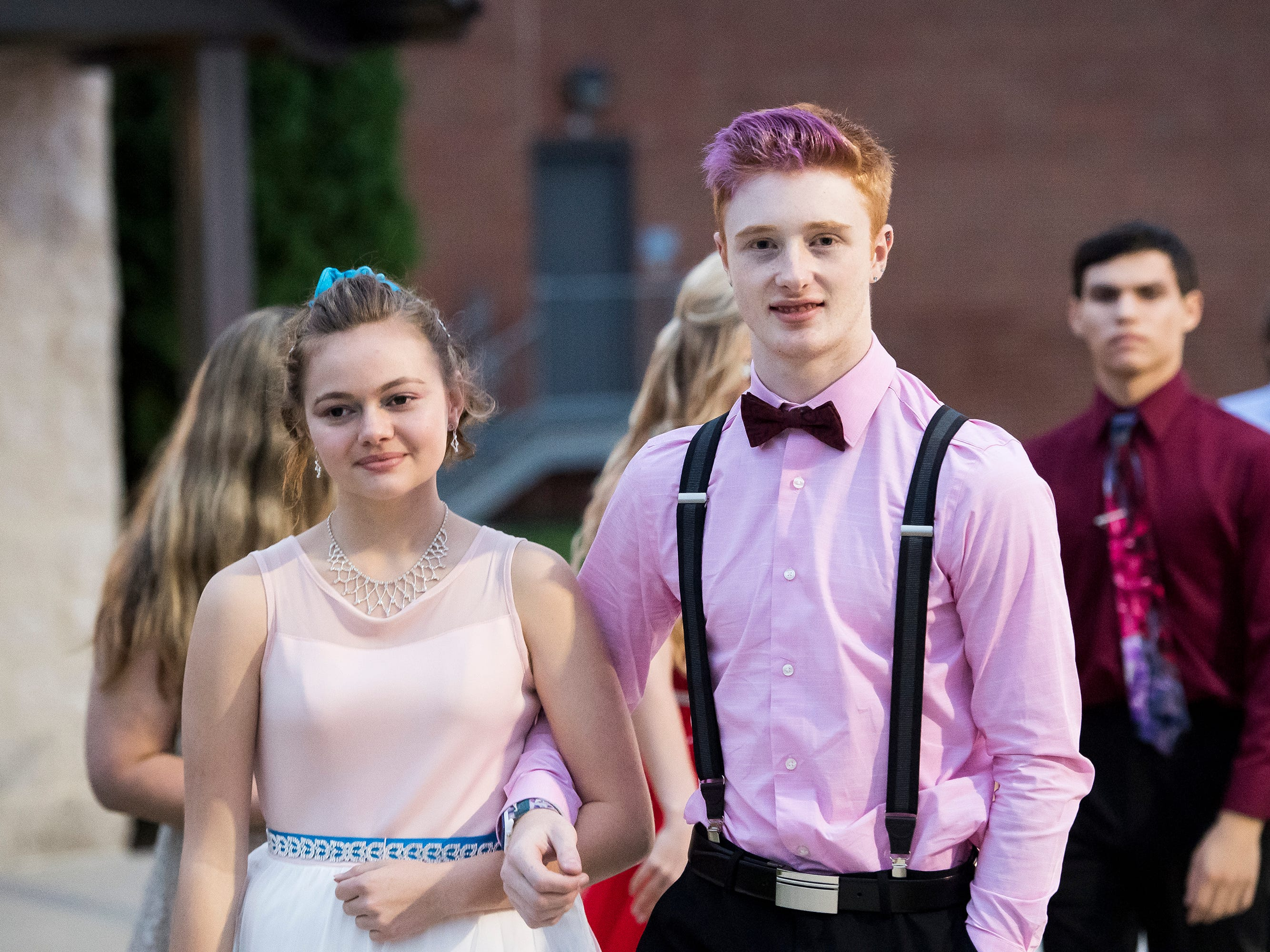 Students arrive at Bermudian Springs High School's homecoming dance on Saturday, October 6, 2018.