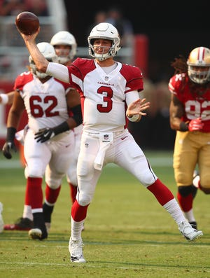Arizona Cardinals quarterback Josh Rosen (3) passes against the San Francisco 49ers during the second half of an NFL football game in Santa Clara, Calif., Sunday, Oct. 7, 2018.