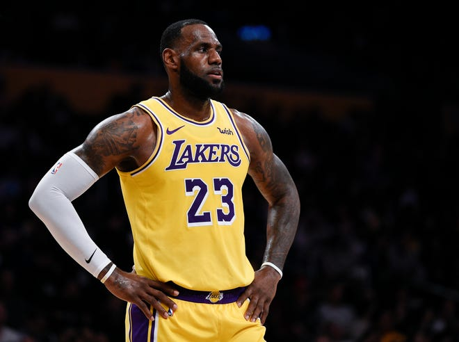 Los Angeles Lakers forward LeBron James in action during the first half of an NBA preseason basketball game against the Sacramento Kings in Los Angeles, Thursday, Oct. 4, 2018. (AP Photo/Kelvin Kuo)