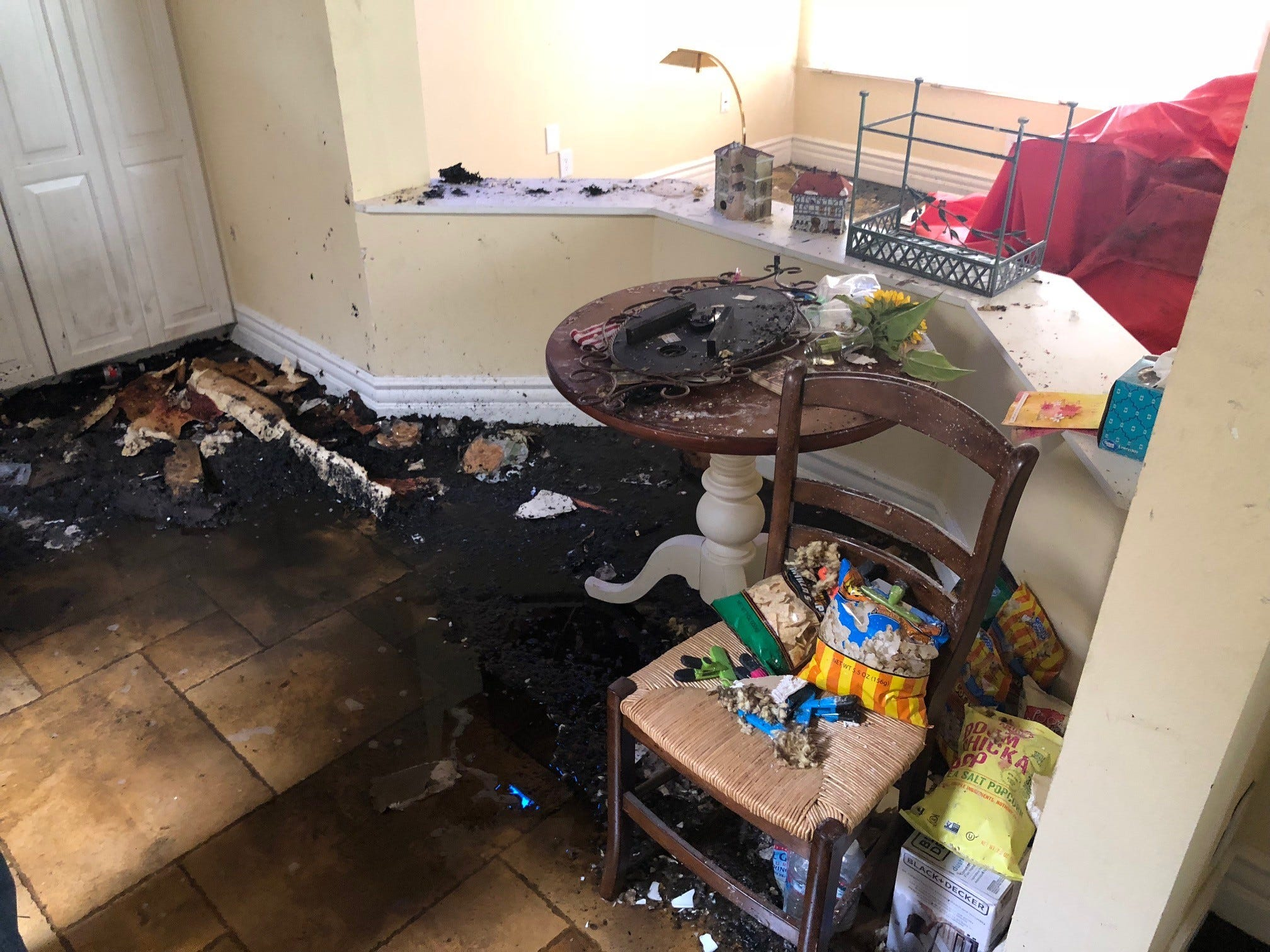 Lightning gave the influence of a bomb, Scottsdale man says, when walk hit his dwelling Sunday