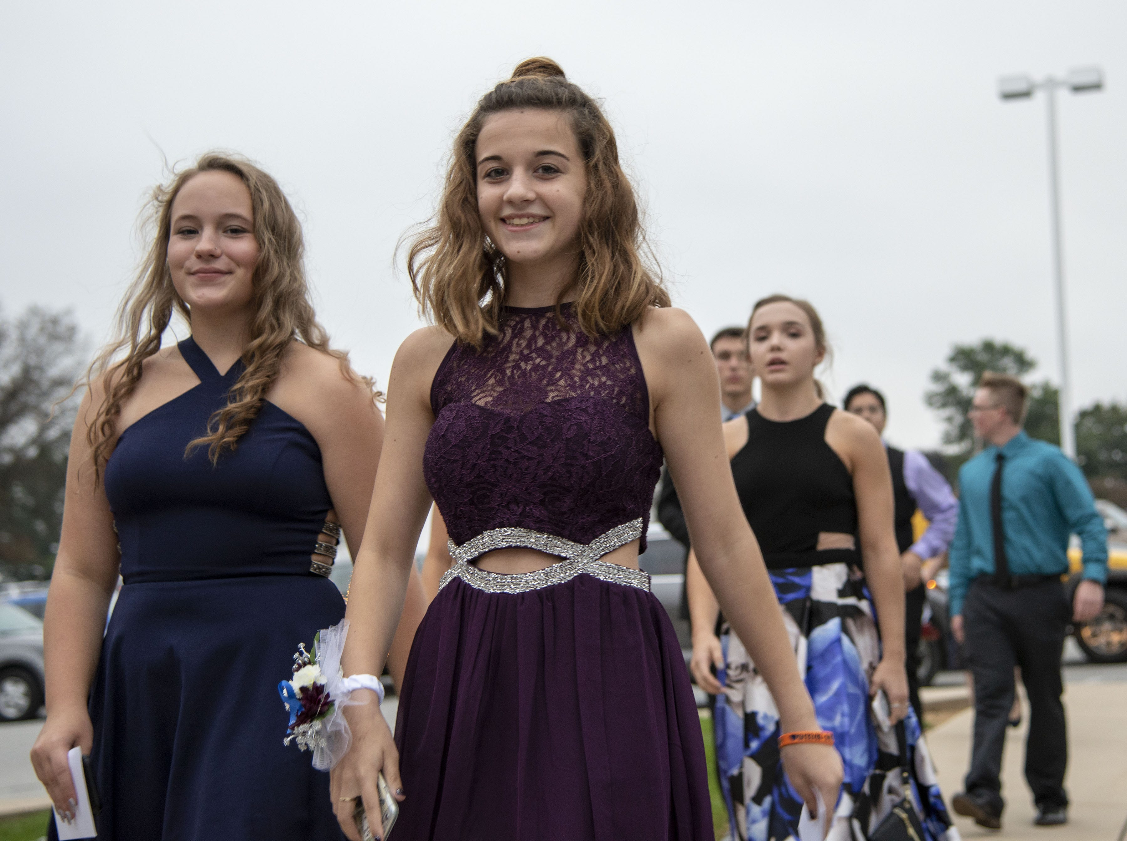 Students arrive for the Dallastown High School homecoming dance on Saturday, October 06, 2018.