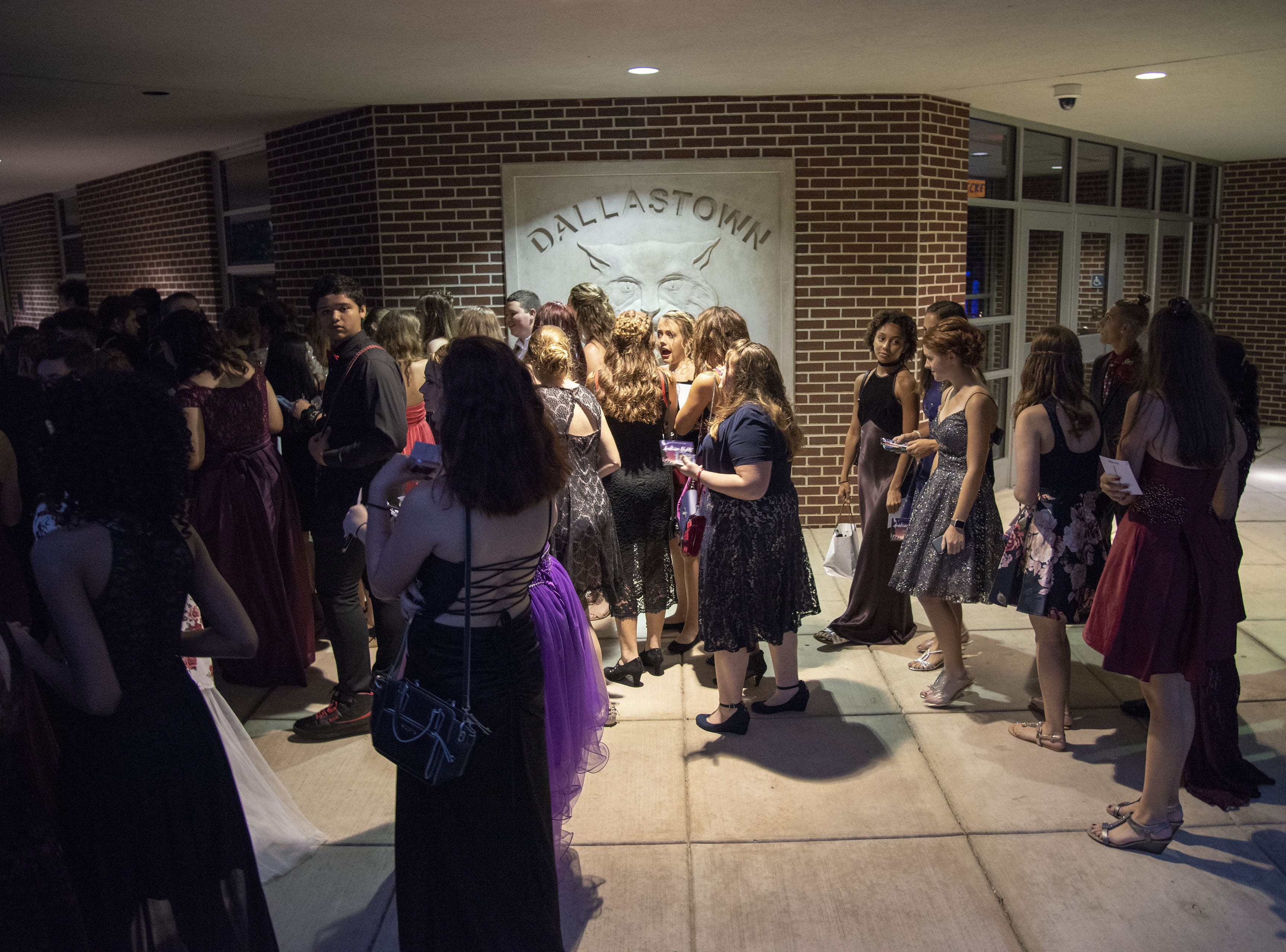 The doors opened to all the students at 6:50 p.m. for the Dallastown Area High School homecoming dance.