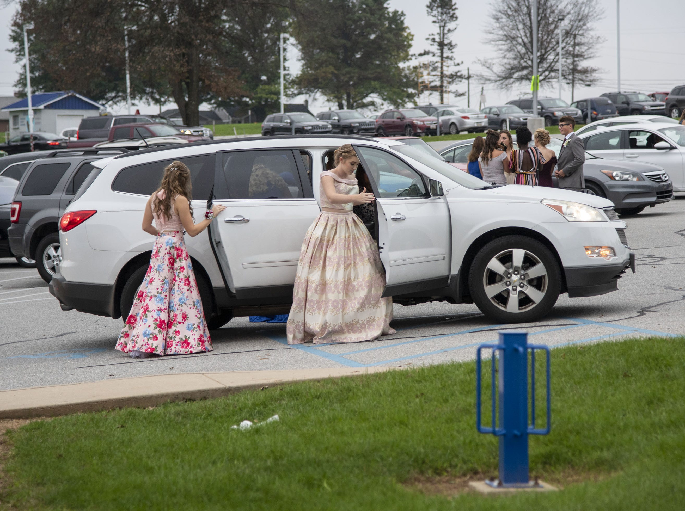 Students arrive to the 2018 Dallastown Area High School homecoming dance on Saturday, October 06, 2018.