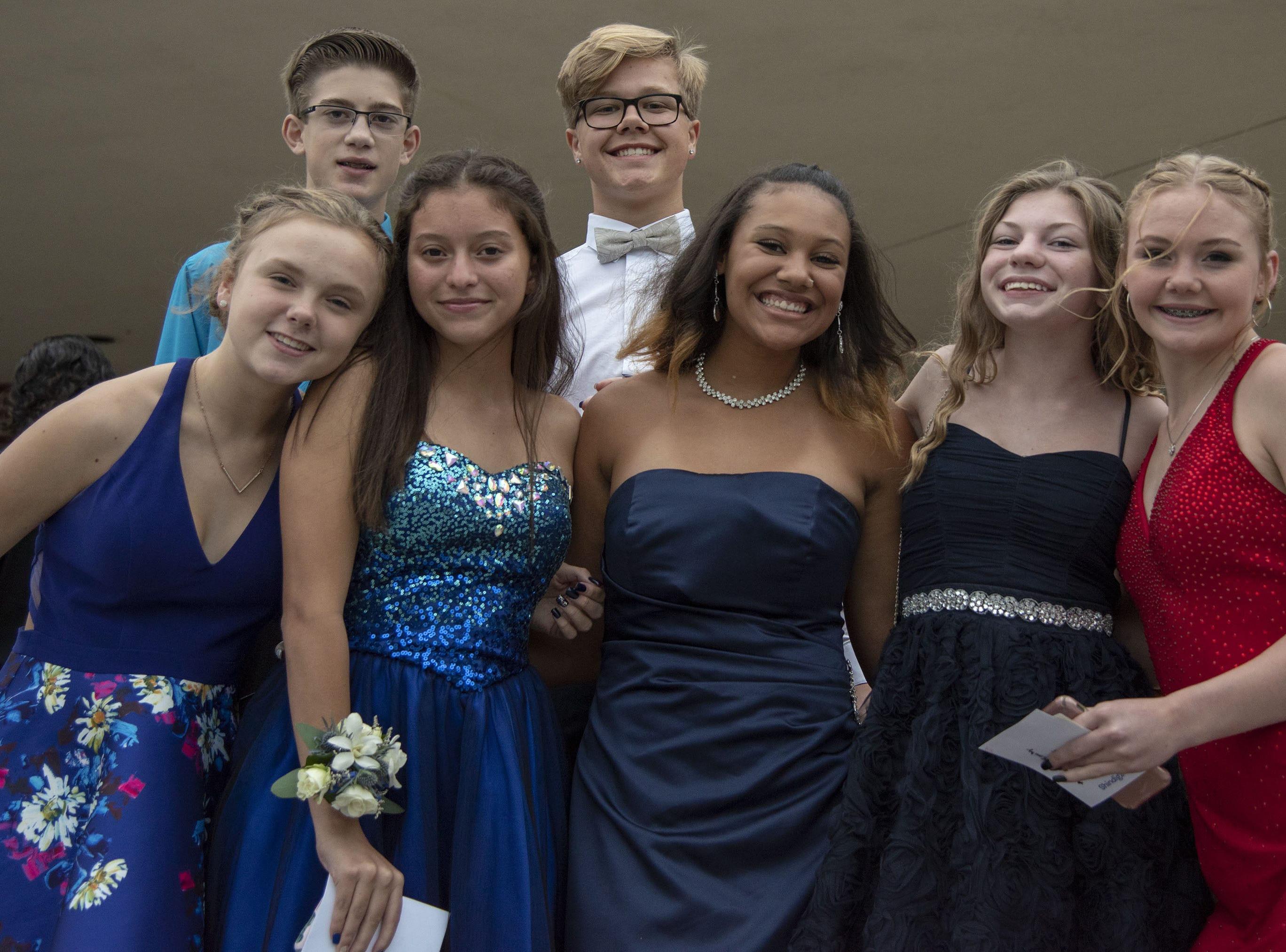 Students pose for a picture at the 2018 Dallastown Area High School homecoming dance on Saturday, October 06, 2018.