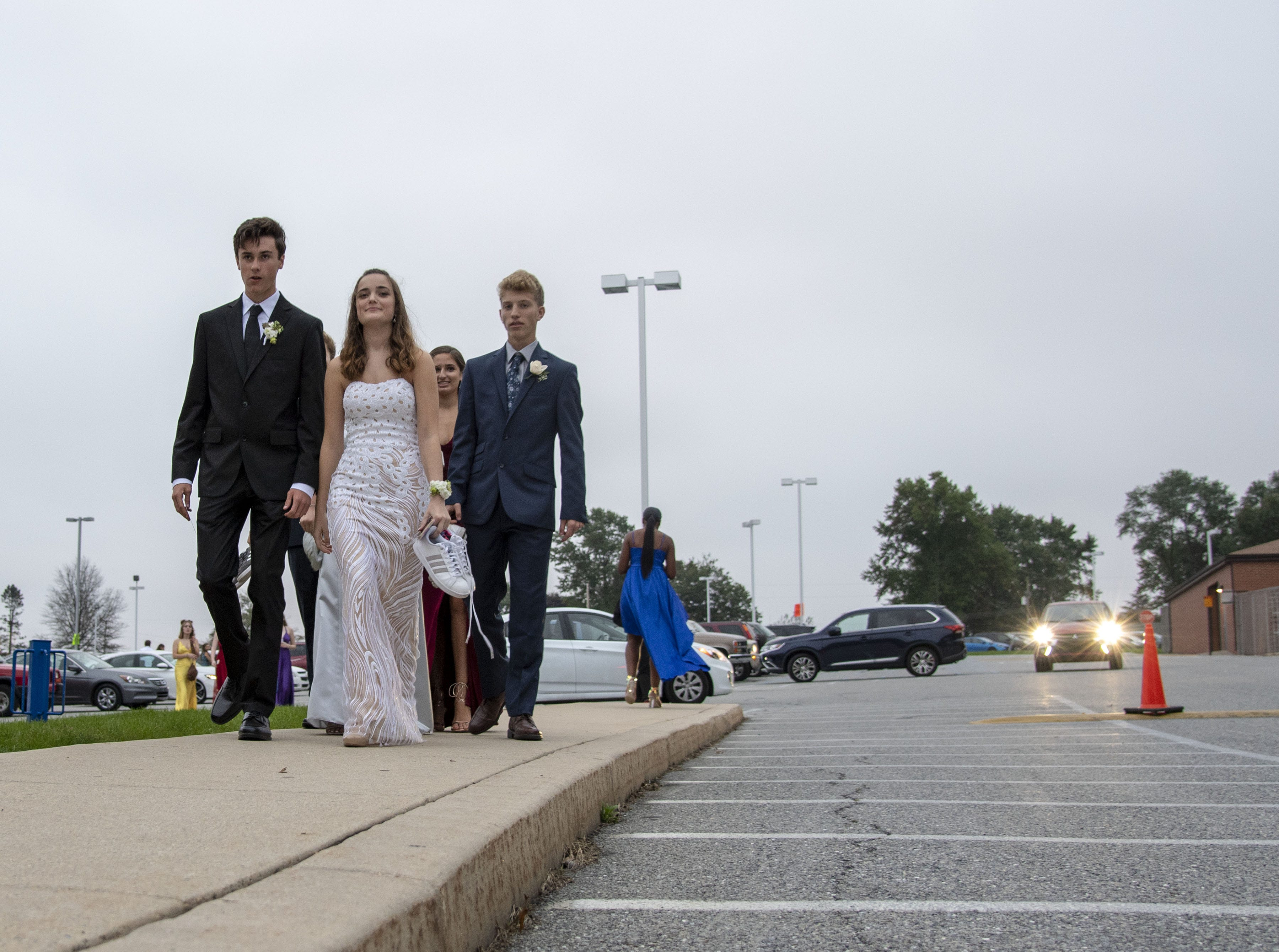 Students attend the Dallastown High School homecoming dance on Saturday, October 06, 2018.