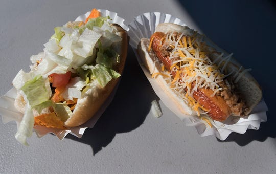 The 'Walking Taco' hot dog created by the Northern York County Regional Police Department during the York County Crime Stoppers Top Dog Contest took the top judges' award.