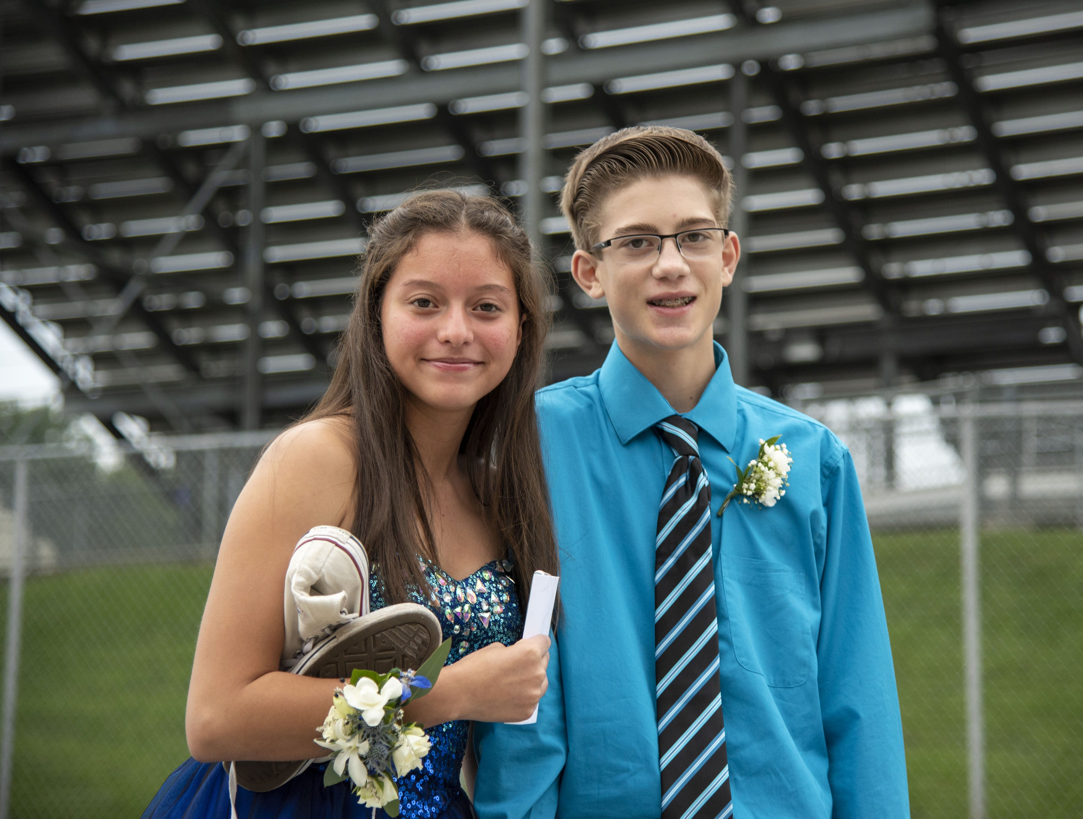 Students pose for a picture at 2018 Dallastown Area High School homecoming on Saturday, Oct. 06, 2018.