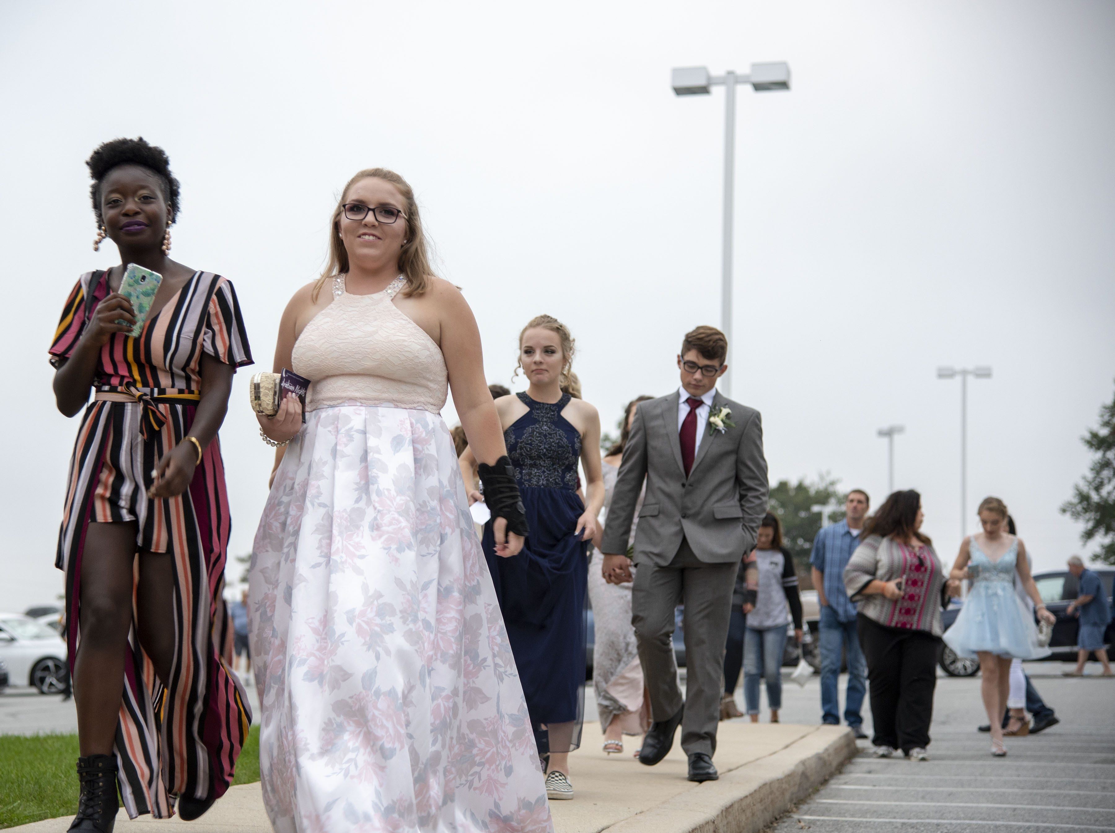 Students arrive to the Dallastown High School homecoming dance on Saturday, October 06, 2018.
