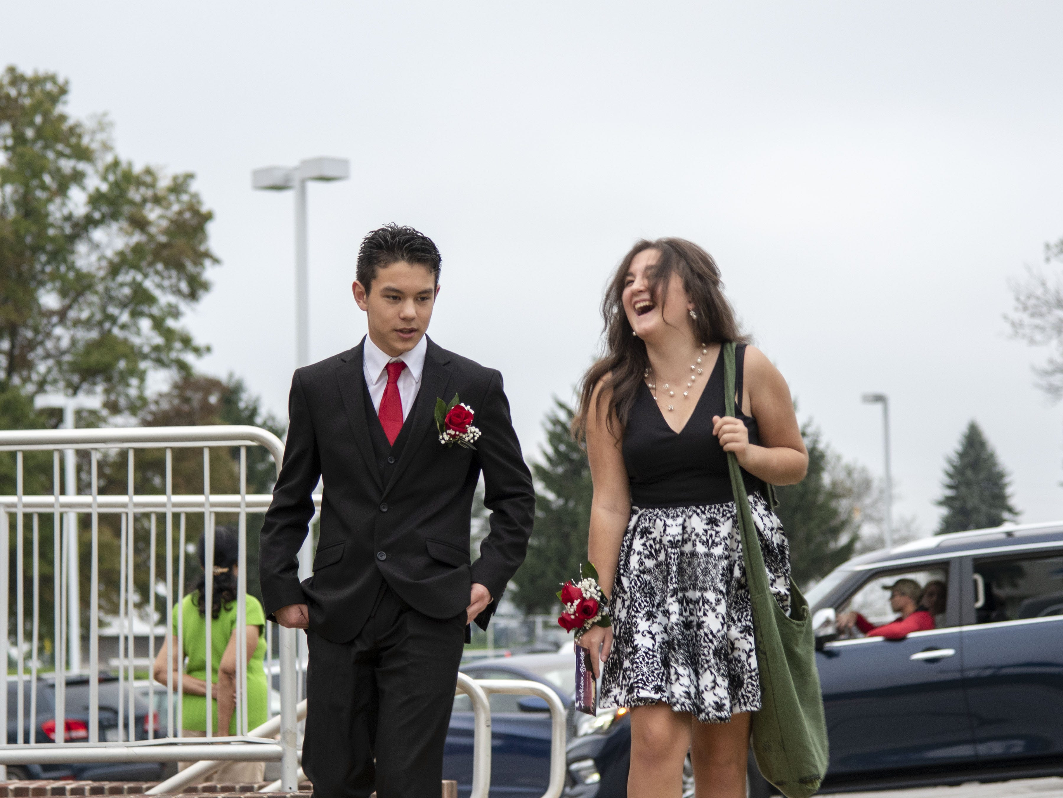 Students arrive to the 2018 Dallastown Area High School homecoming on Saturday, Oct. 06, 2018.