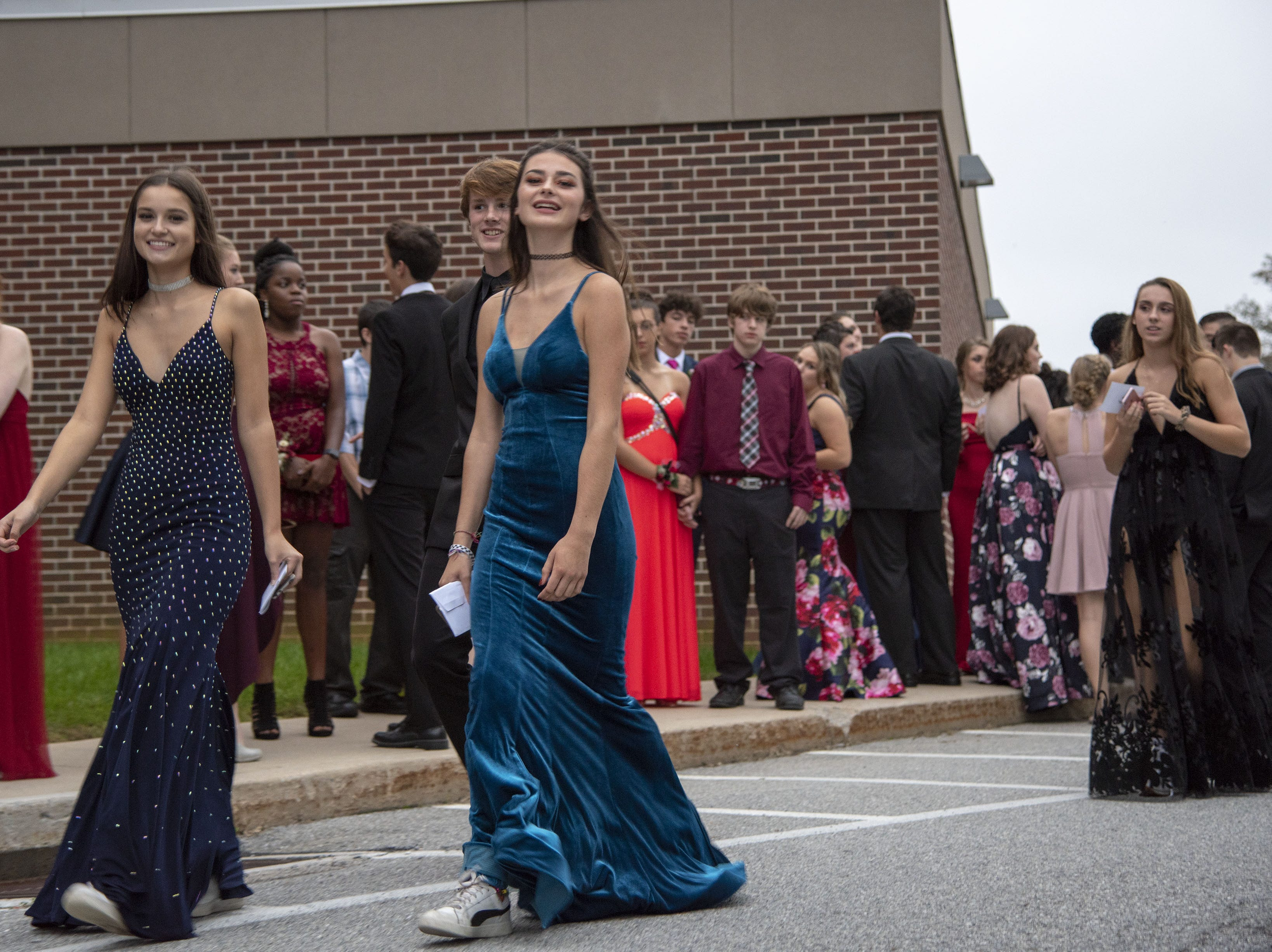 Students arrive to their homecoming dance on Saturday, October 06, 2018.