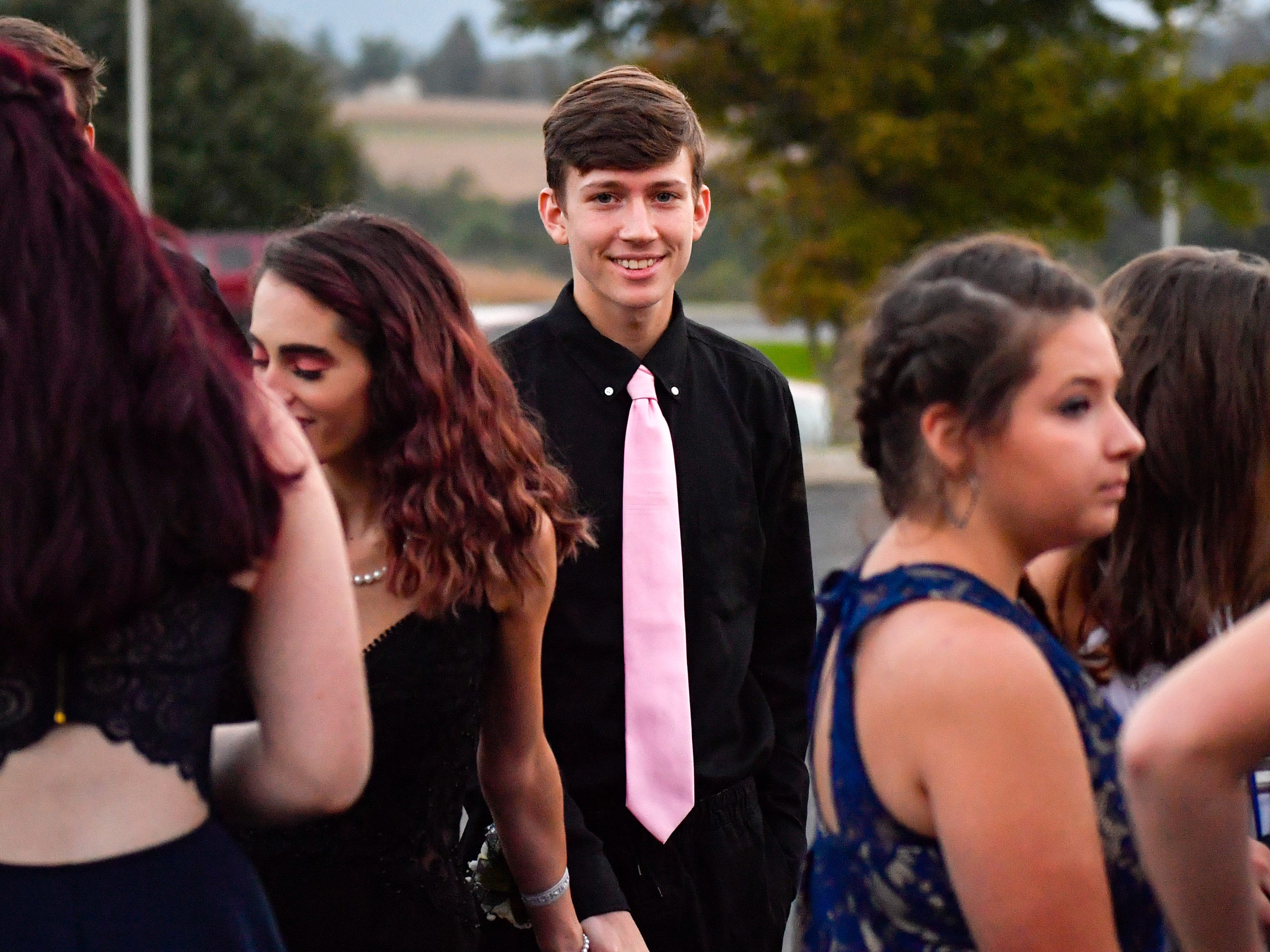 Students attend the Kennard-Dale homecoming dance, Saturday, October 6, 2018.